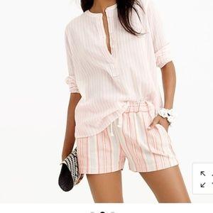 J. Crew Striped Cotton Popover Shirt